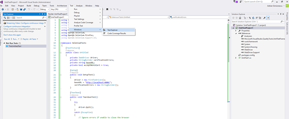 How to use Selenium + IDE with Visual Studio and C# – For